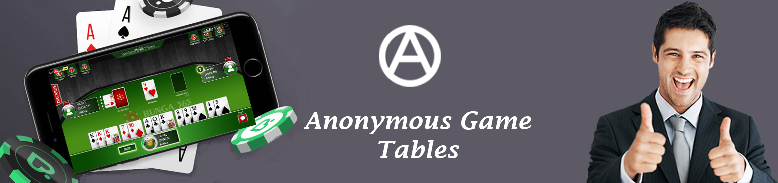Rummy anonymous game table