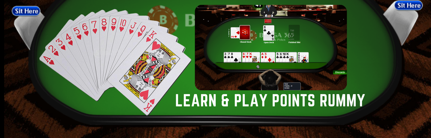 Learn and Play Points Rummy Online - Bunga365
