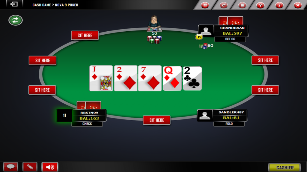 Post-river action- Texas poker Online games