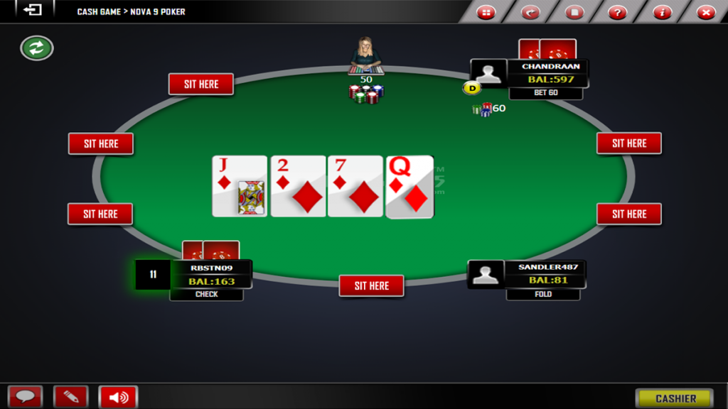 Post turn action- Texas poker Online games