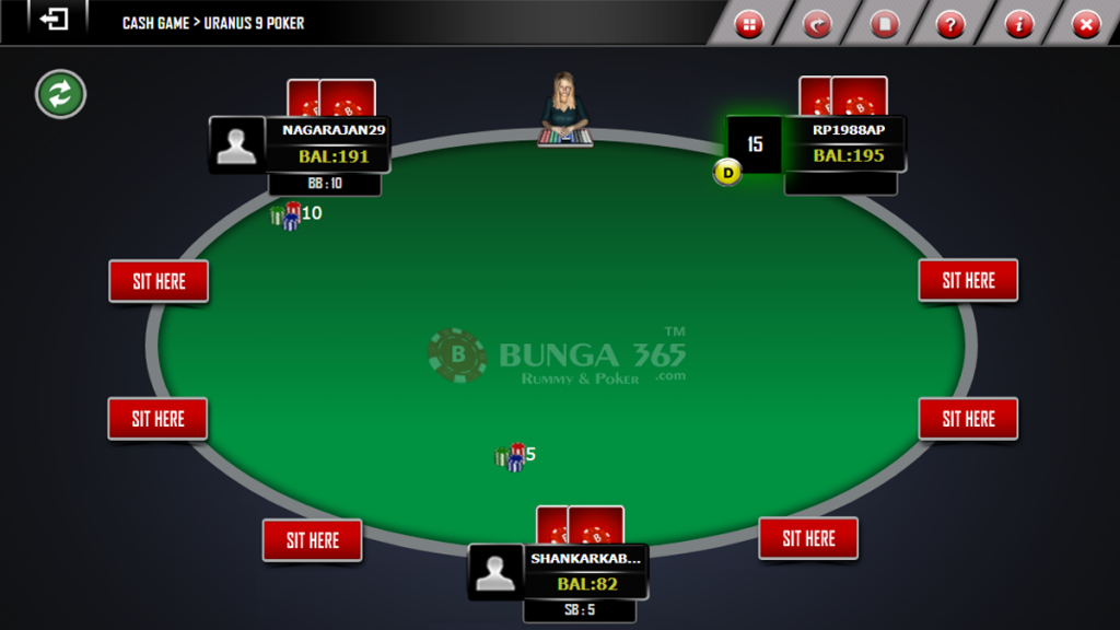 Pre-flop action- Texas poker Online games