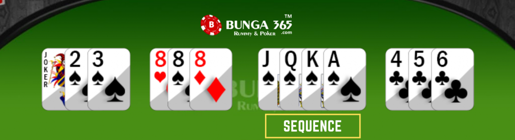 13 cards rummy game - rummy sequence - Bunga365