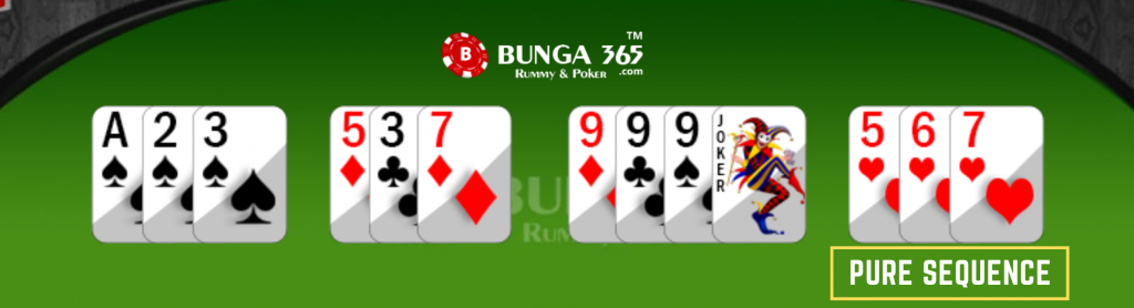 Rummy card Game rules - rummy pure sequence - Bunga365