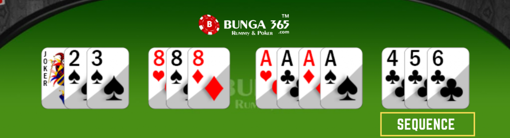 Rummy card Game rules - rummy sequence - Bunga365