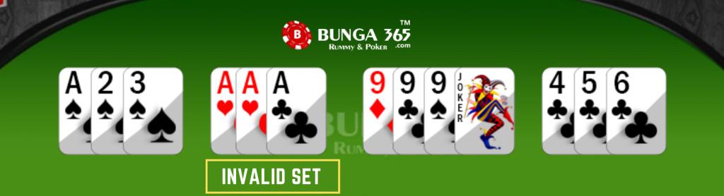 Rummy card games invalid set - Bunga365